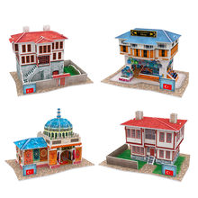 CubicFun House Model 3D Puzzles Toy DIY Turkey Buildings Cardboard Model Building Sets Paper Puzzles For Adults(China)