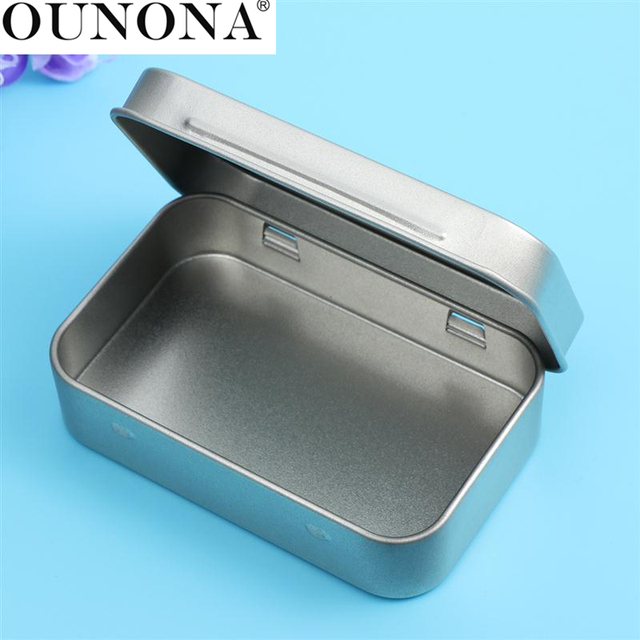 12Pcs Metal Box Collection Cards Storage Box Steel Mini Objects Tinplate  Container