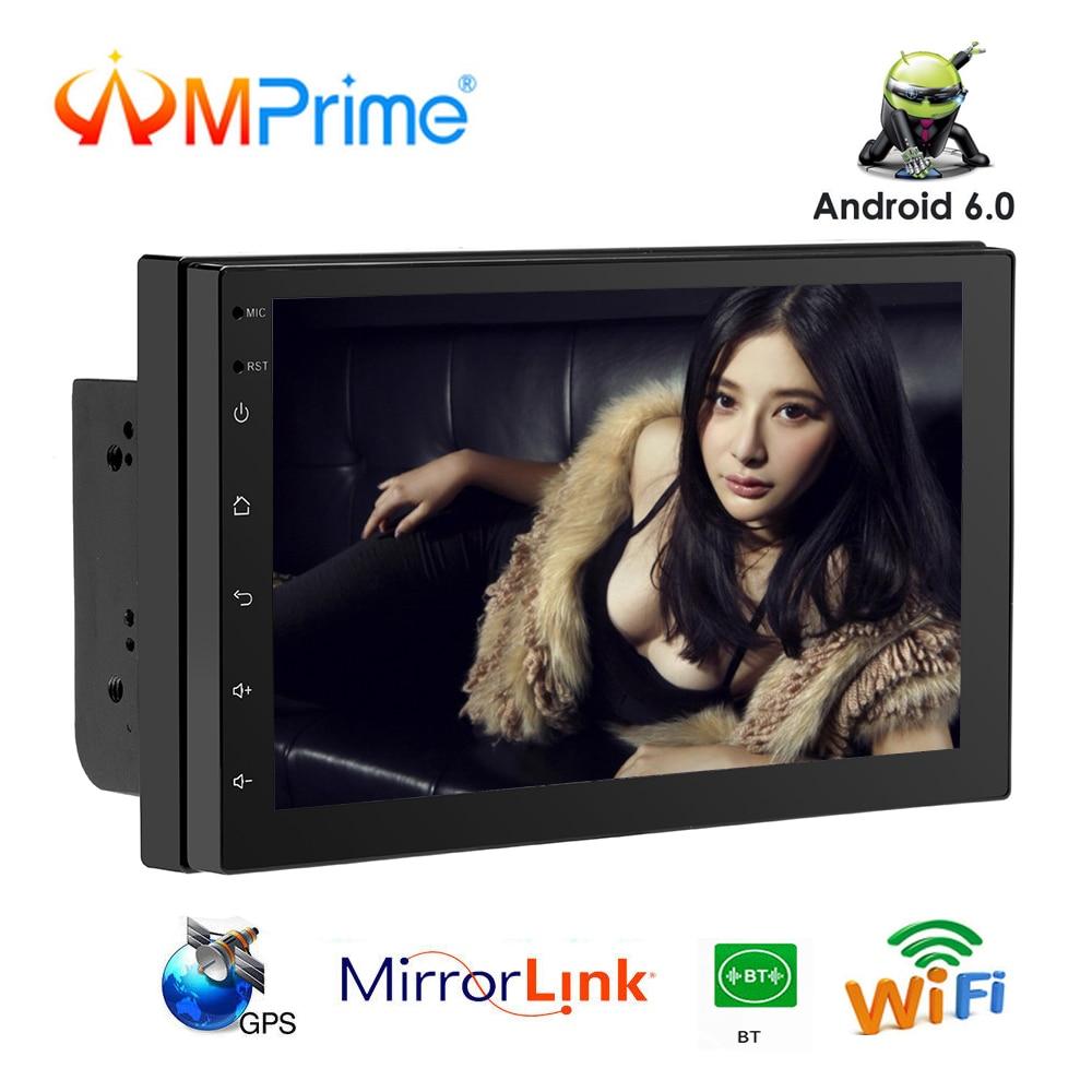 AMPrime 2 din Android 6.0 Voiture Radio 7 ''4g GPS Navigation Mirrorlink MP5 Lecteur Multimédia WIFI Bluetooth FM auto ISO/USB Radio