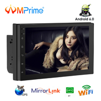 AMPrime 2 din Android 6,0 автомобилей Радио 7 ''4G gps навигации Mirrorlink MP5 мультимедийный плеер WI FI Bluetooth FM АВТО ISO/USB радио