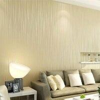 Non Woven Wallpaper Plain Minimalist Living Room Warm And Solid Vertical Striped Wallpaper Bedroom Wallpaper TV