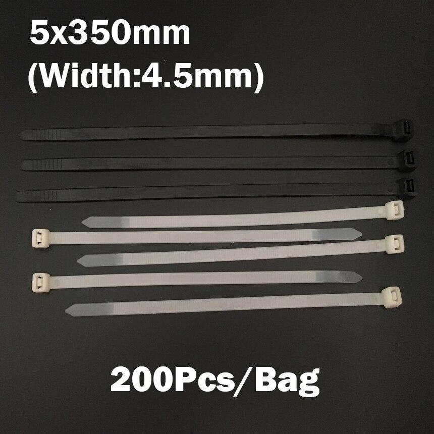 5 350mm 5x350mm 4 5mm Width Black White Network Wire