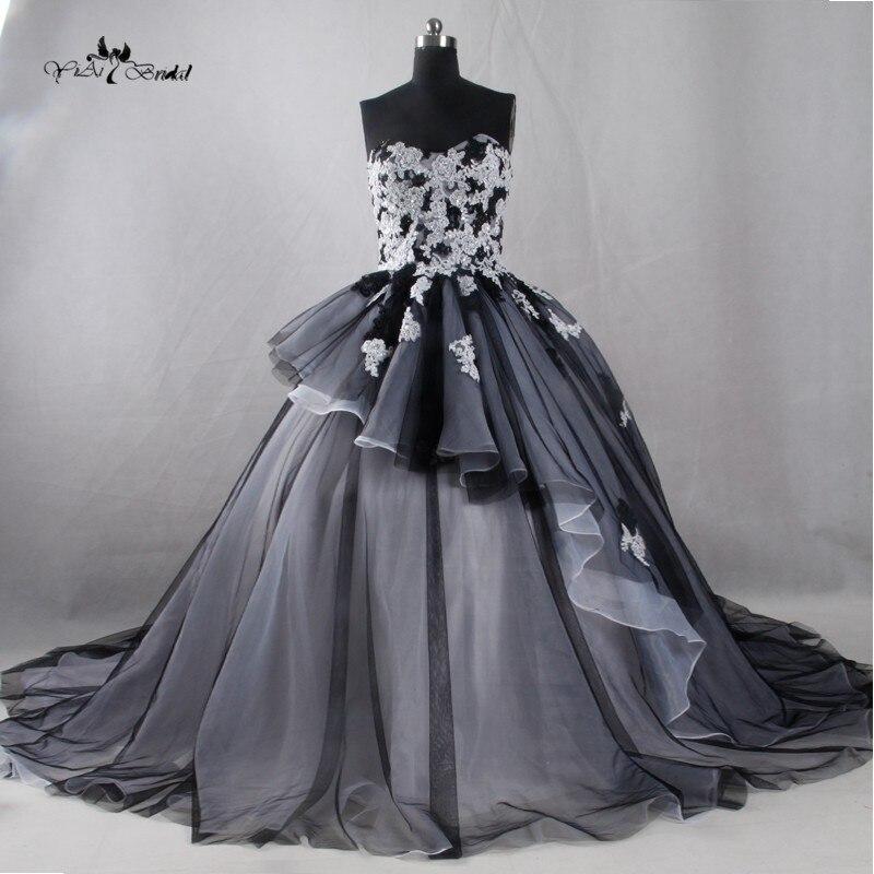 Plus Size Gothic Wedding Dresses 2016 2017: Popular Black Wedding Dresses-Buy Cheap Black Wedding