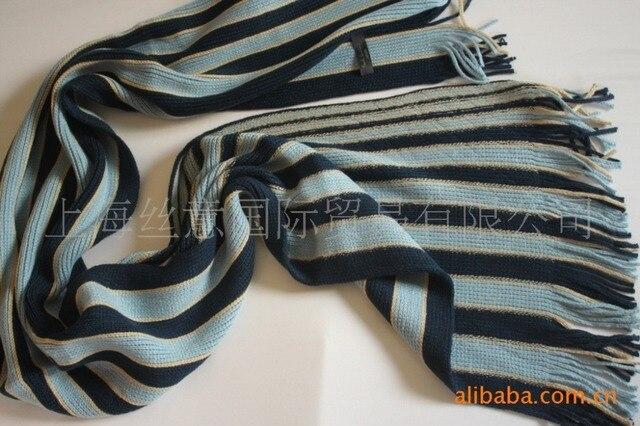 Мода мужская шерсть зима полосатый шарф платок шарфы обруча FW1236