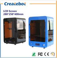 Build Size 280 250 400mm High Quality DIY 3d Printer With Filament SD Card And LCD