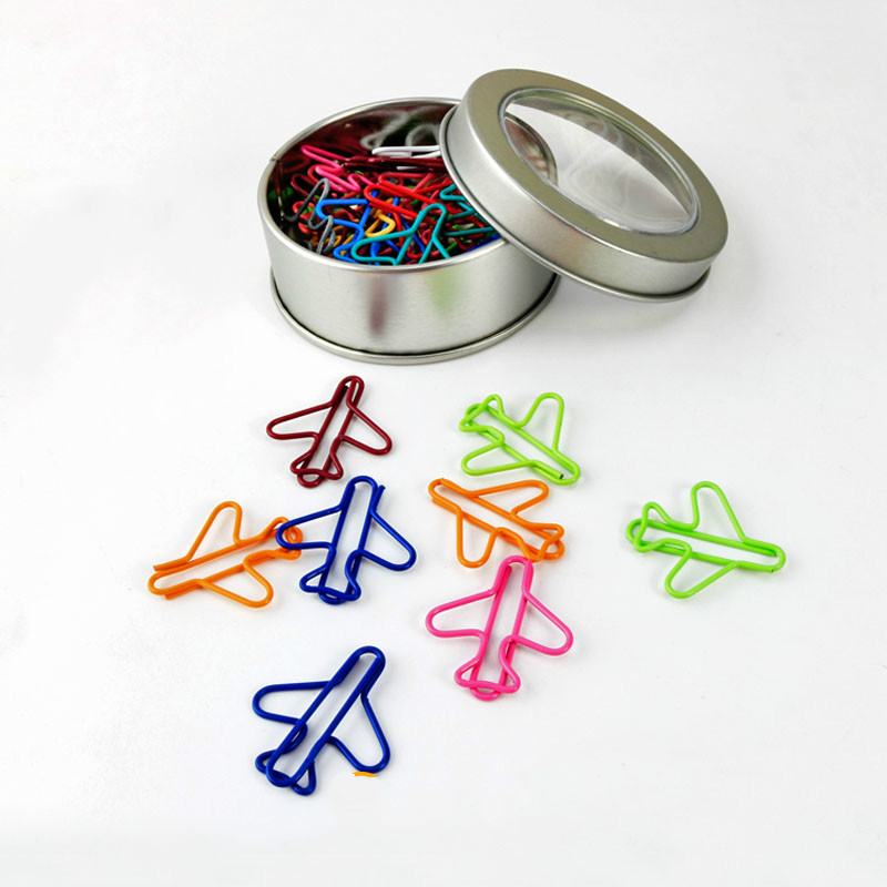 Multicolour Paperpaper Needle Iron Boxed Plane Paper Clip
