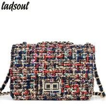 Ladsoul Для женщин Курьерские сумки хорошее качество Для женщин сумка женская хлопчатобумажной ткани Зимняя мода досуг Cross-body Сумки для девочки A2313/g
