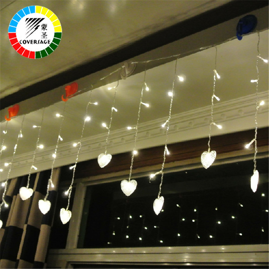 Coversage Christmas Fairy String Lights Xmas Luces Navidad Wedding Garden Party Decoration Outdoor Light Curtain Led In From