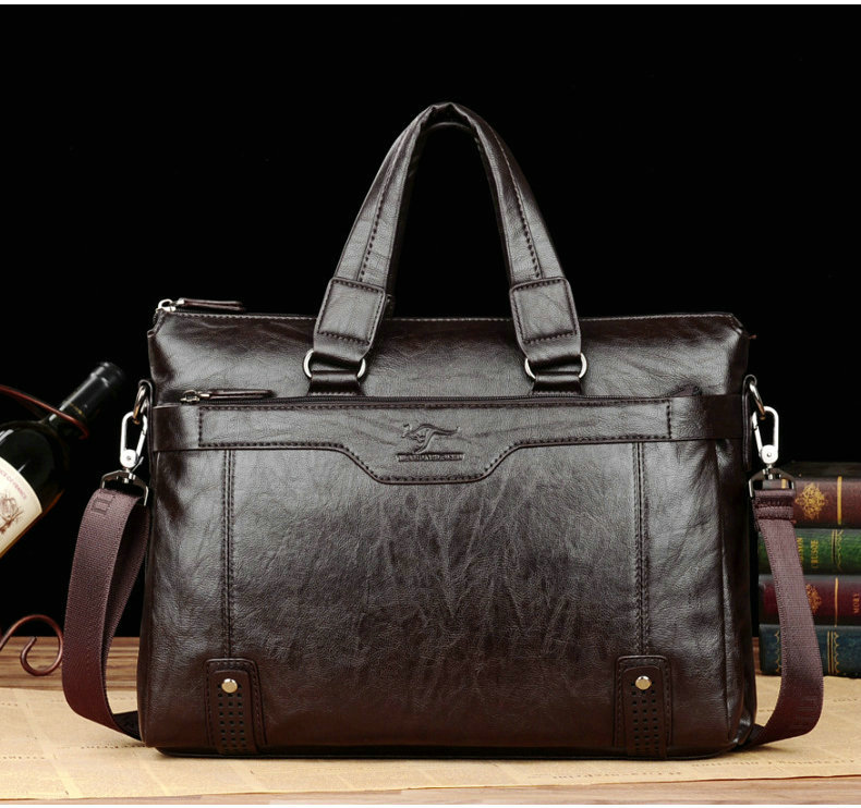 HTB1Tv4HeaSs3KVjSZPiq6AsiVXaw Cowhide Leather men's Briefcase men laptop male messenger bag Men's shoulder bags briefcases for documents bag