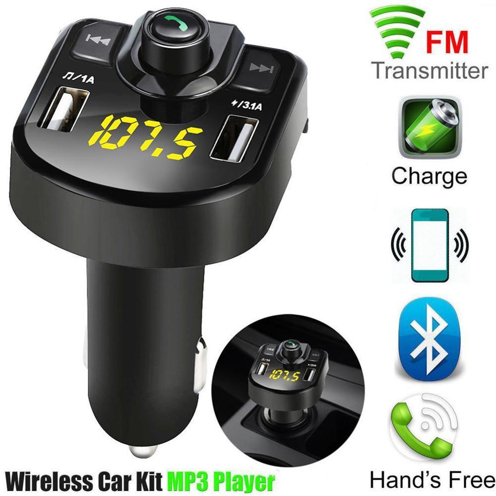 Bluetooth MP3 Player FM Transmitter Handsfree Wireless Radio Adapter USB Car Charger 2.1A MP3 Player SD Music Playing