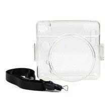 Crystal Case PVC Transparent Strap Shoulder Bag Protector Instant Film Camera Shell Cover for Fuji NSTAX SQUARE SQ6