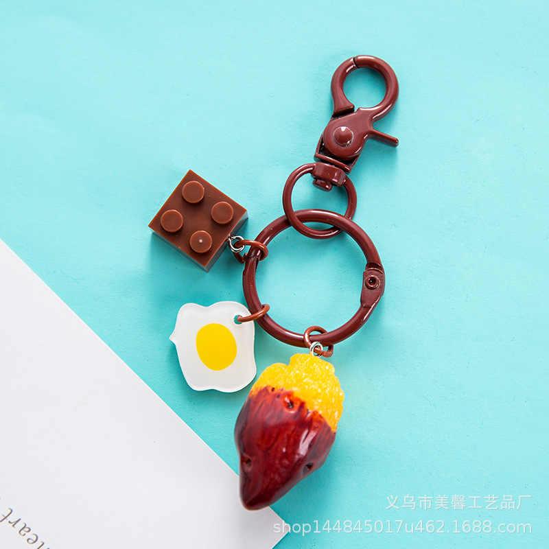 Besar Buah Musim Panas Gantungan Kunci Apple Semangka Pitaya Pine Apple Buah Kiwi Kunci Kunci Makanan Holder Buah Segar Gantungan Kunci Perhiasan
