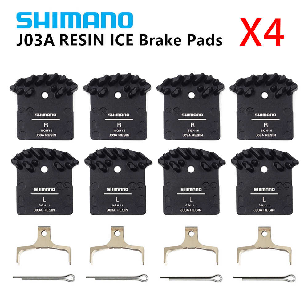 2298a9c8440 4 PCS SHIMANO J03A ICE-TECH Resin Cooling Fin Disc Brake Pads for M6000 SLX