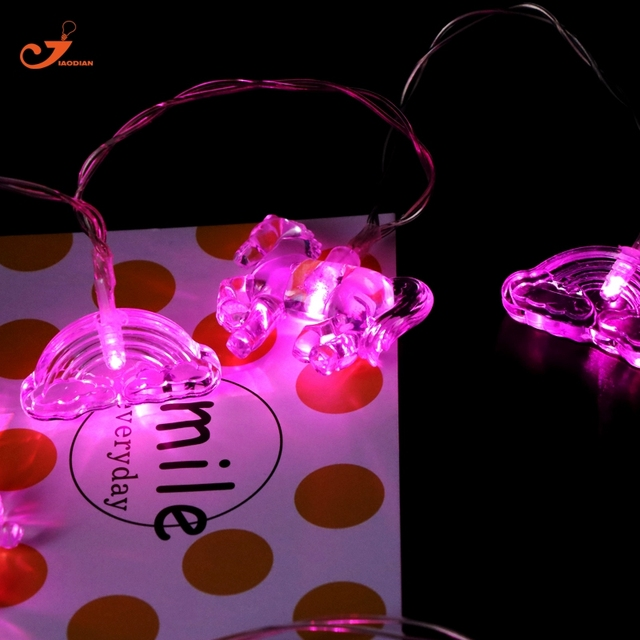 Led Light Horse Pink Cloud String Lights Party Flashlight Living Kids Bed Room Decoration Novelty Gifts Holiday Garden