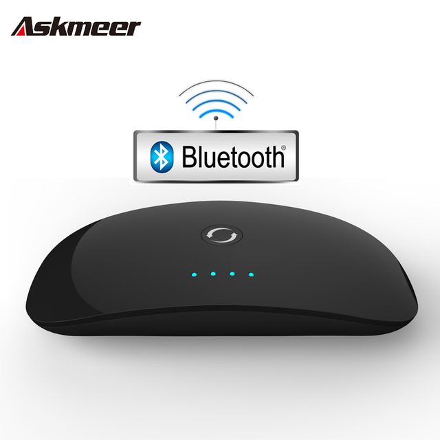 Askmeer Беспроводная Связь Bluetooth Аудио Передатчик и Приемник Адаптер A2DP Портативный Аудиоплеер 3.5 мм AUX-IN для Смартфонов Mp3 TV PC