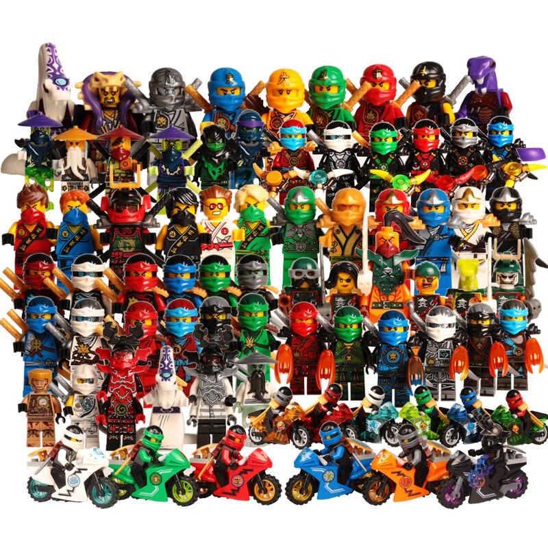 Ninja Kai Jay Zane Cole Lloyd Carmadon Mit Tornado Motorrad Legoing Ninjagoes Marvel Super Heroes fakten Baustein Spielzeug
