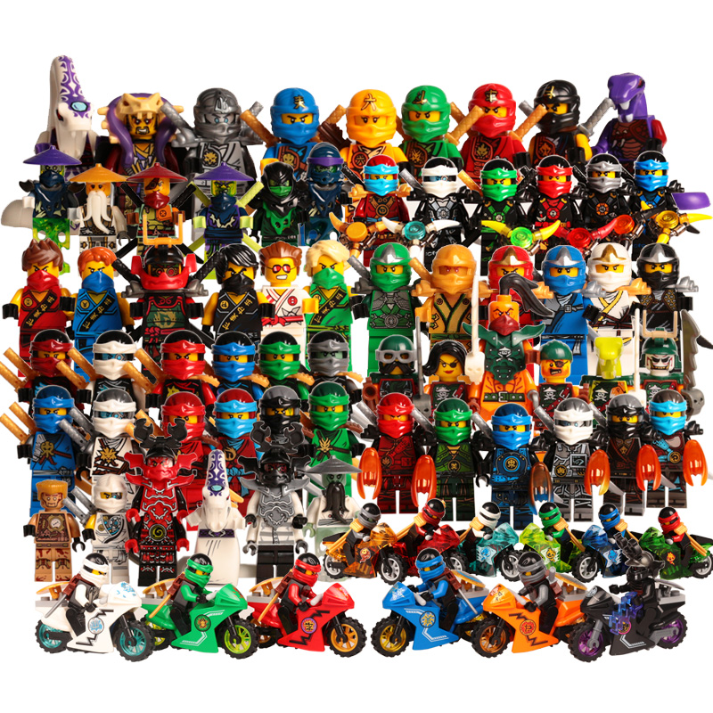 Ninja Kai Jay Zane Cole Lloyd Carmadon With Tornado Motorcycle Compatible With LegoINGlys Ninjagoes figures Building