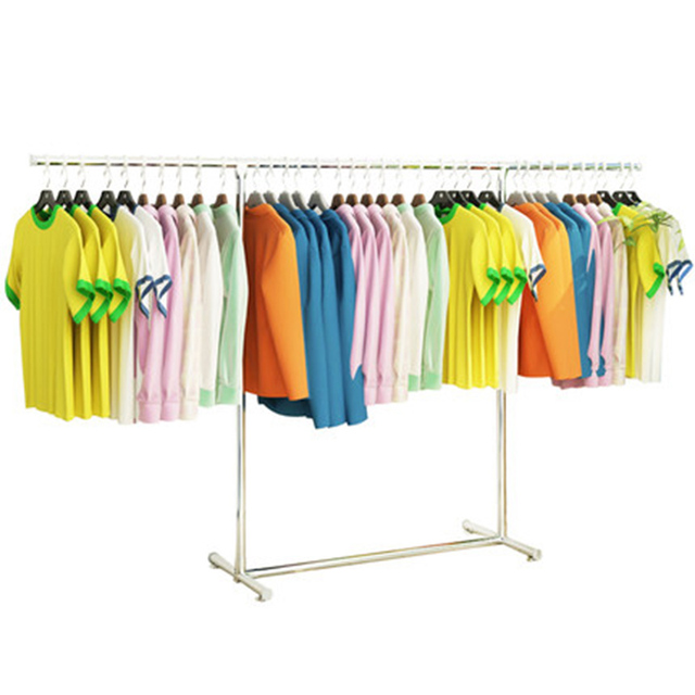 Single Rod Retractable Drying Rack Household Folding Indoor Clothes