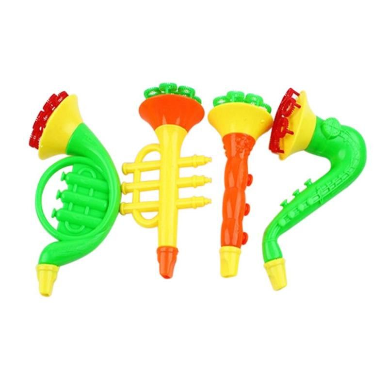 Children Water Blowing Toys Outdoor Fun Sport  Soap Blowing Bubble Horn No Liquild Concentrate Stick Tray Kids Toys Kits
