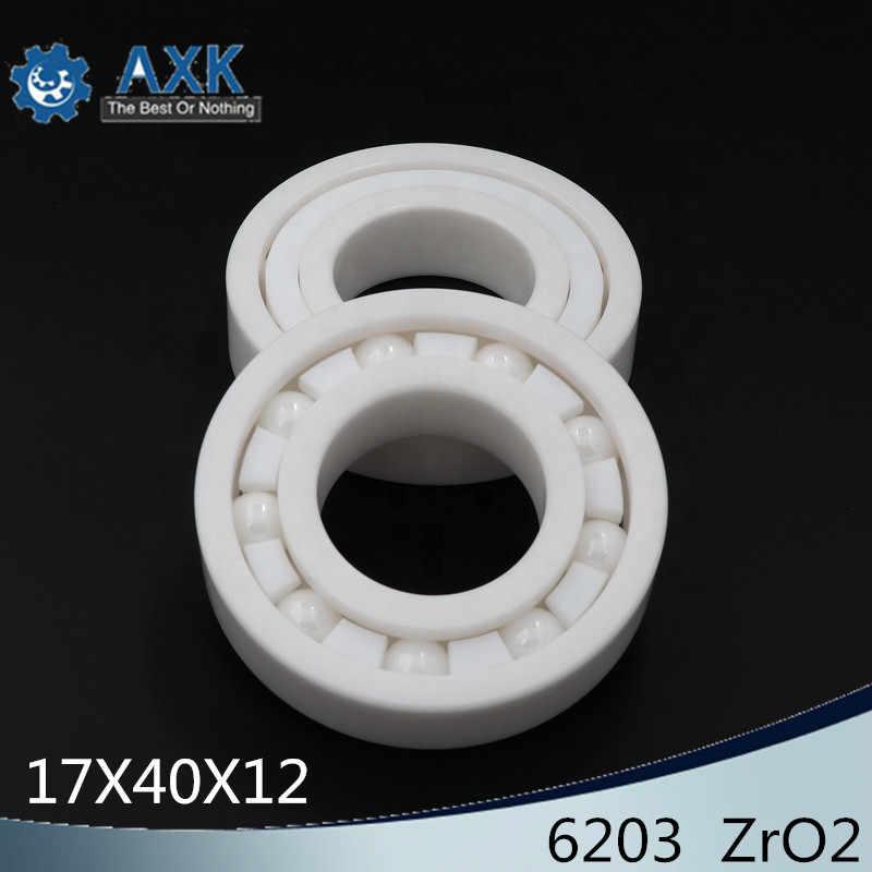 no logo Bearings 1 PC 6202 6202CE Full Ceramic Bearing ZrO2 Material All Zirconia Ceramic Ball Bearings 153511 mm