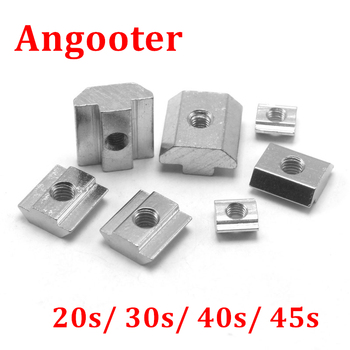 100pcs 50pcs M3 M4 M5 M6 M8 T Block Square nuts T-Track Sliding Hammer Nut for fastener 2020 3030 4040 4545 aluminum profile peng fa 35 steel t nut sleeve steel t type sliding nut milling working table fixing t bolts t slot nuts set t slots nut for t tr