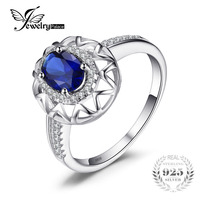 Sapphire Ring 925 Solid Sterling Silver Fashion Jewelry Unique Design Fashion Charm Jewelry Women S Gift