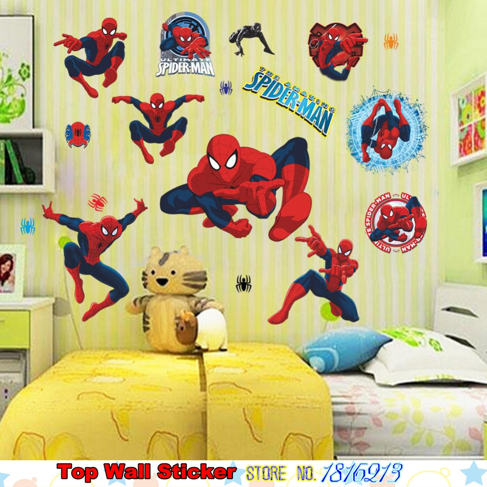 3D Spiderman Wandaufkleber Für Kinder Jungen Weihnachten Geschenke ...