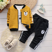 Комплекты одежды для маленьких мальчиков весенне-осенние детские модные хлопковые шорты+ Топы+ штаны, комплект из 3 предметов для мальчиков, детская повседневная спортивная одежда