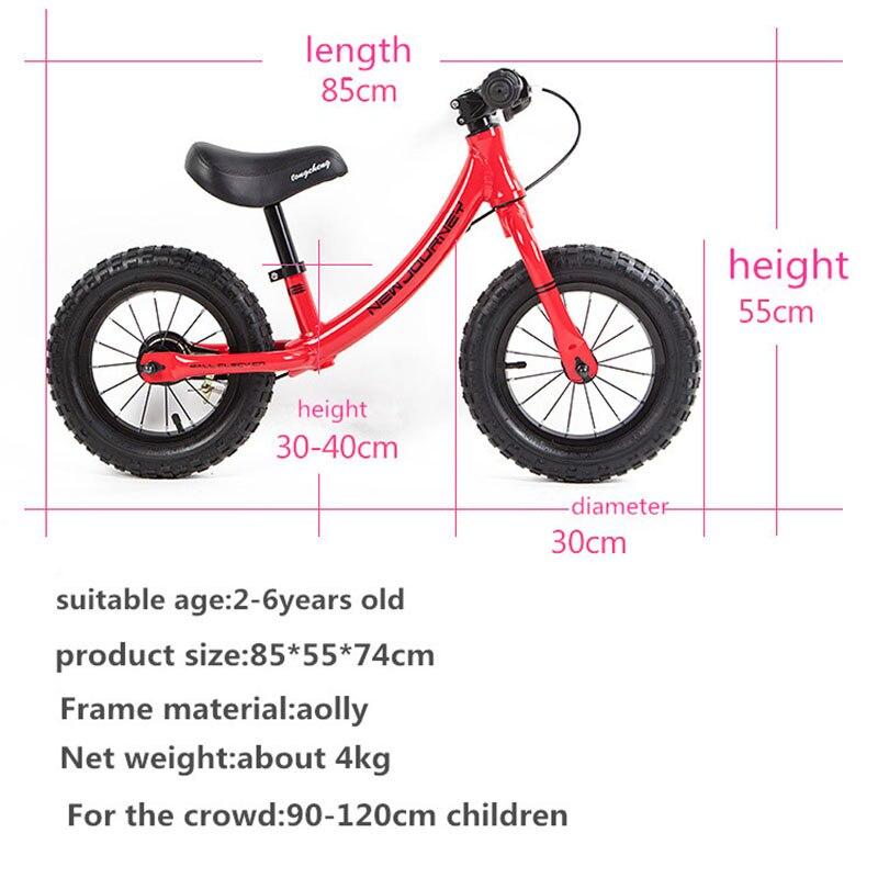 Poussettes vélos enfant Balance Buggy coulissant jouet vélo bébé enfant marcheur vélo pour 2-6 ans enfants pédale-moins 12 pouces vélo enfant - 6