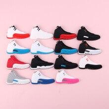 Keychain New Exotic Mini Jordan 12 Retro Shoe Key Chain Men and Women Kids Gift Keyring Basketball Sneaker Holder Porte Clef