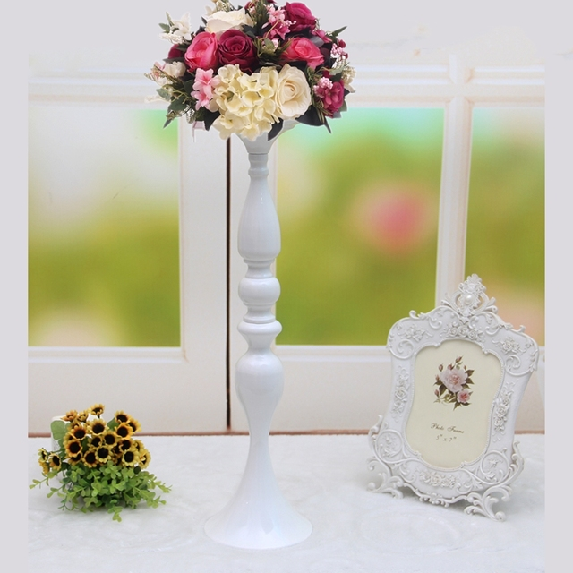 50cm 20 White Metal Candle Holder Stick Wedding Centerpiece Event Road Lead Flower