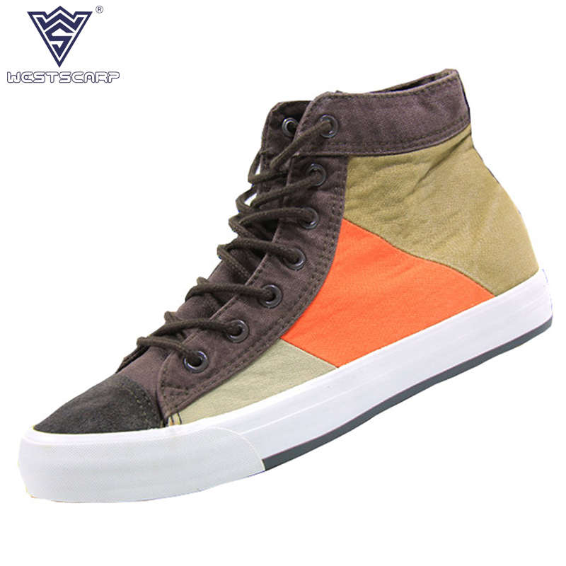 WEST SCARP Men Shoes Fashion New Canvas Sneakers Men Winter Shoes Lace-Up Male Casual Shoes Autumn Zapatos Hombre Size 39-44 west scarp mens casual shoes man flats spring autumn breathable fashion classic men canvas shoes brand outdoor zapatos hombre