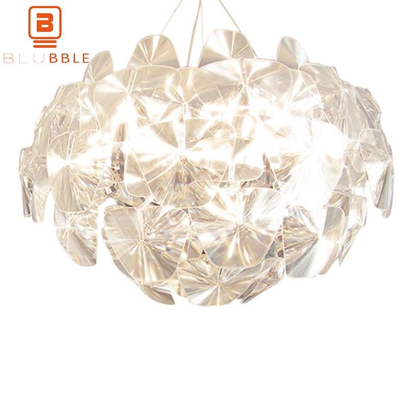 BLUBBLE прозрачные листья акриловые лазерные подвесные светильники, Подвесная лампа, оригинальная современная простая Подвесная лампа