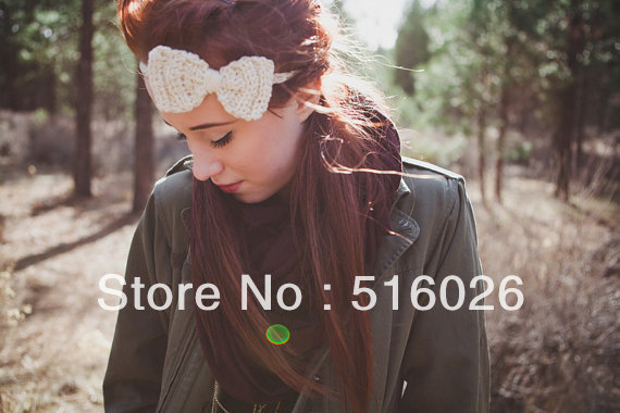 Fashion Crochet Headband,Hair Bows,Girls Hair Band, Head Accessories, fashion hairewear 10pcs/lot