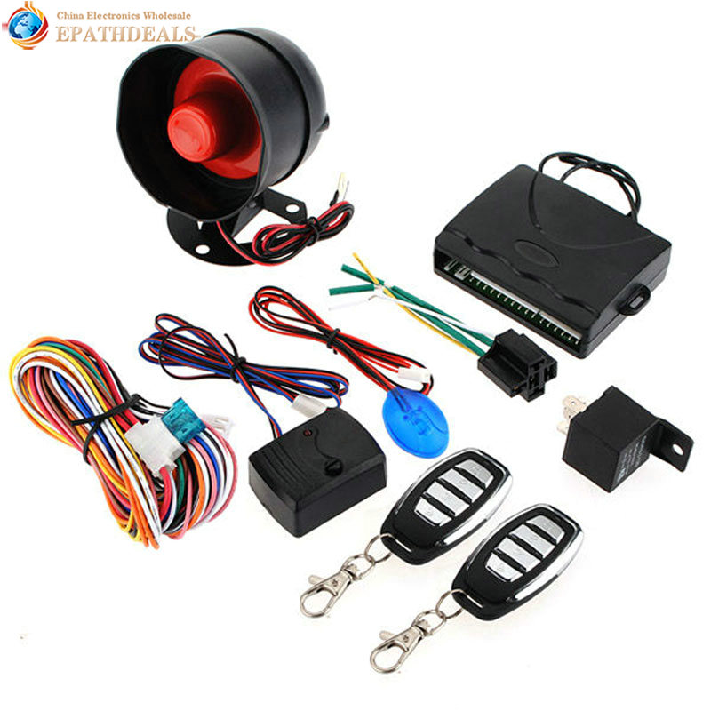 Auto Car Alarm Siren Security System Keyless Entry Central Door Lock Locking System Remote Control