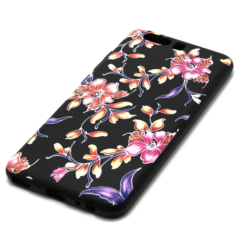 3D Relief flower silicone  case huawei p10 (28)