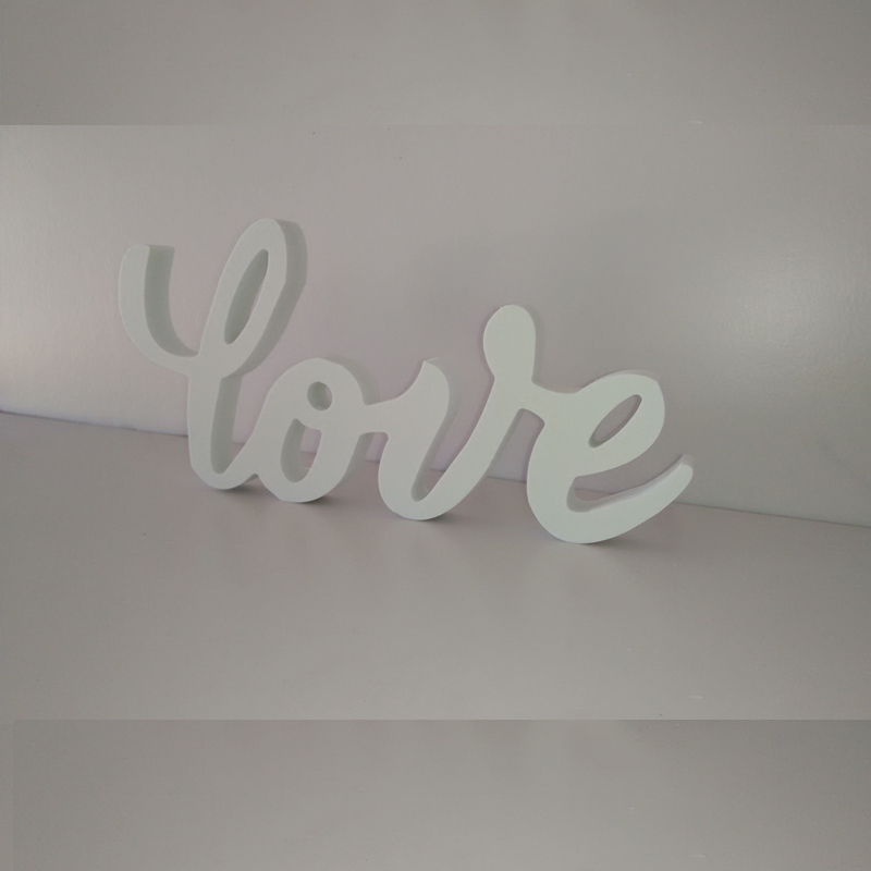 Free Shipping Love Sign Freestanding Wooden PVC Standing Love Letters Sign Plaque Decoration Gift wedding decoration