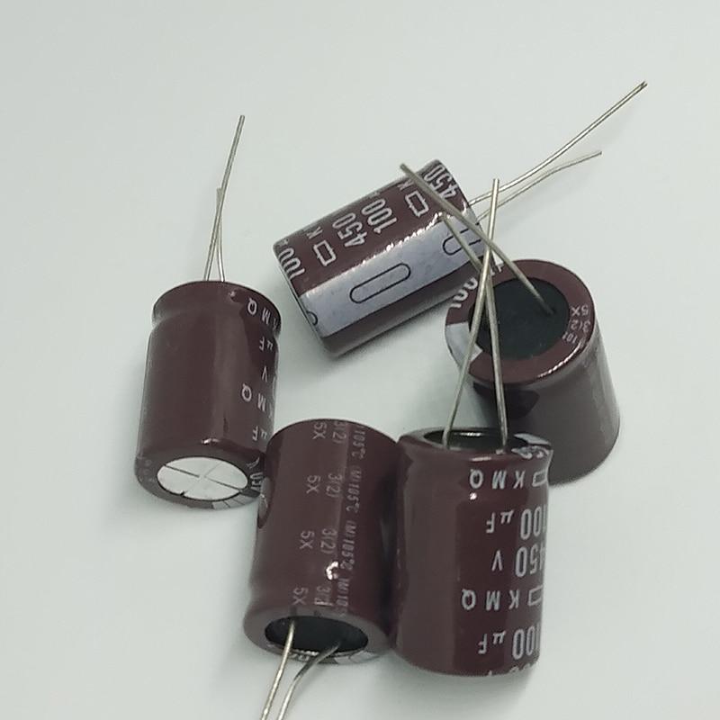 electrolytic capacitor Original 5 pcs/lot 450V 100UF 18MM * 25MM 100uf 450v KXG electrolytic capacitor ic ... (2)