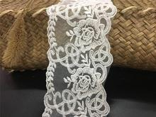 Exquisite embroidery mesh lace This white cotton accessories 8cm wide