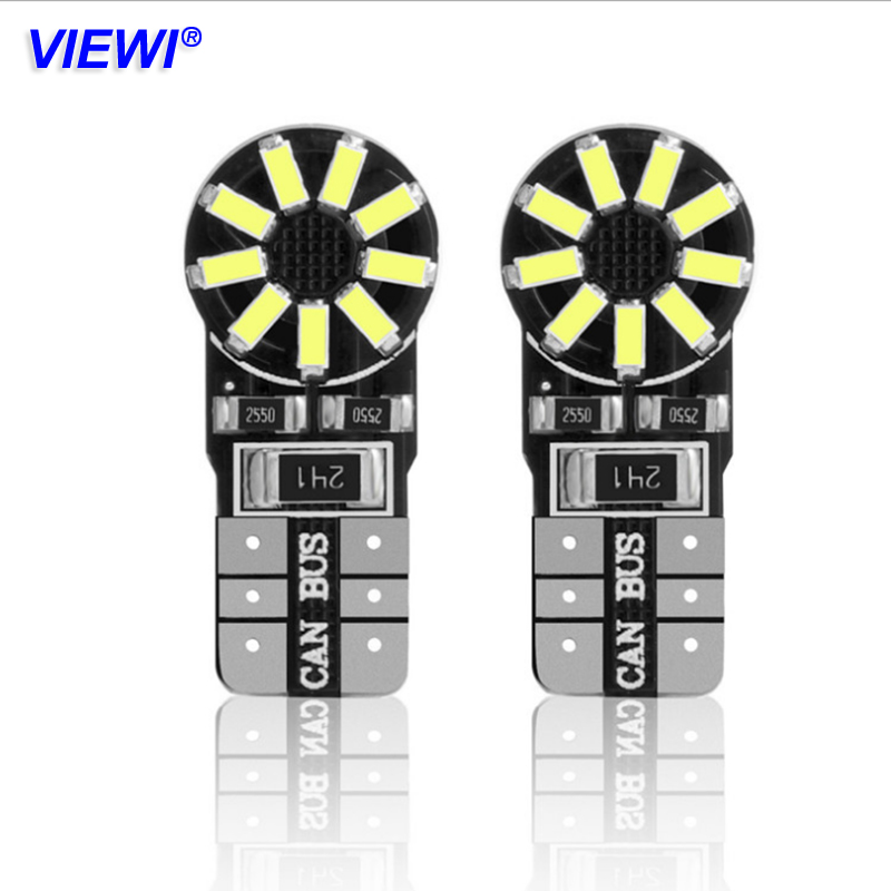 Viewi 20x T10 W5w 12v Led Car Light Bulbs 6000k 158 147