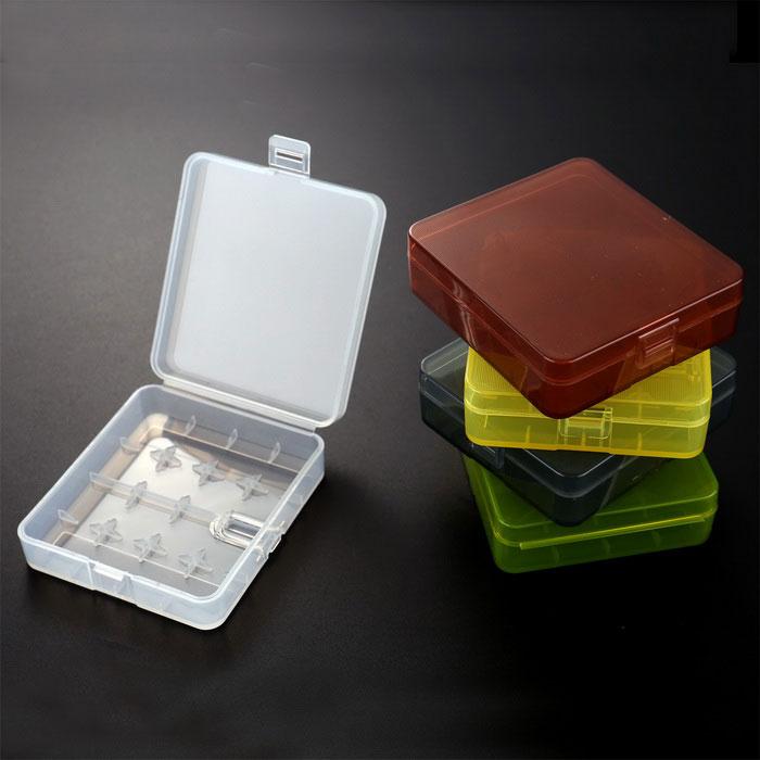 Portable <font><b>Battery</b></font> <font><b>Cases</b></font> Kit Colorful Transparent Hard Plastic Protective <font><b>Battery</b></font> <font><b>Holder</b></font> with 5 <font><b>Cases</b></font> for 18650 <font><b>Battery</b></font>