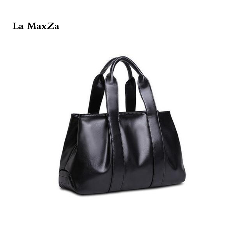 La MaxZa Handbag Women Black - Tote Bag PU Leather Messenger Shoulder Bag Laptop/Office Bag Fashion Bag With Many Compartments la maxza gifts for valentine s day leather tote bag for women large commute handbag shoulder bag zipper women s work satchel bag