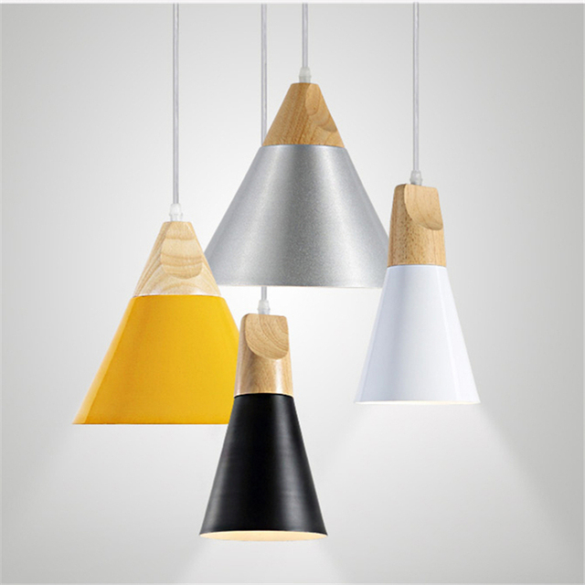 Black white yellow silver aluminum pendant light modern dinning lighting fixture nordic contemporary