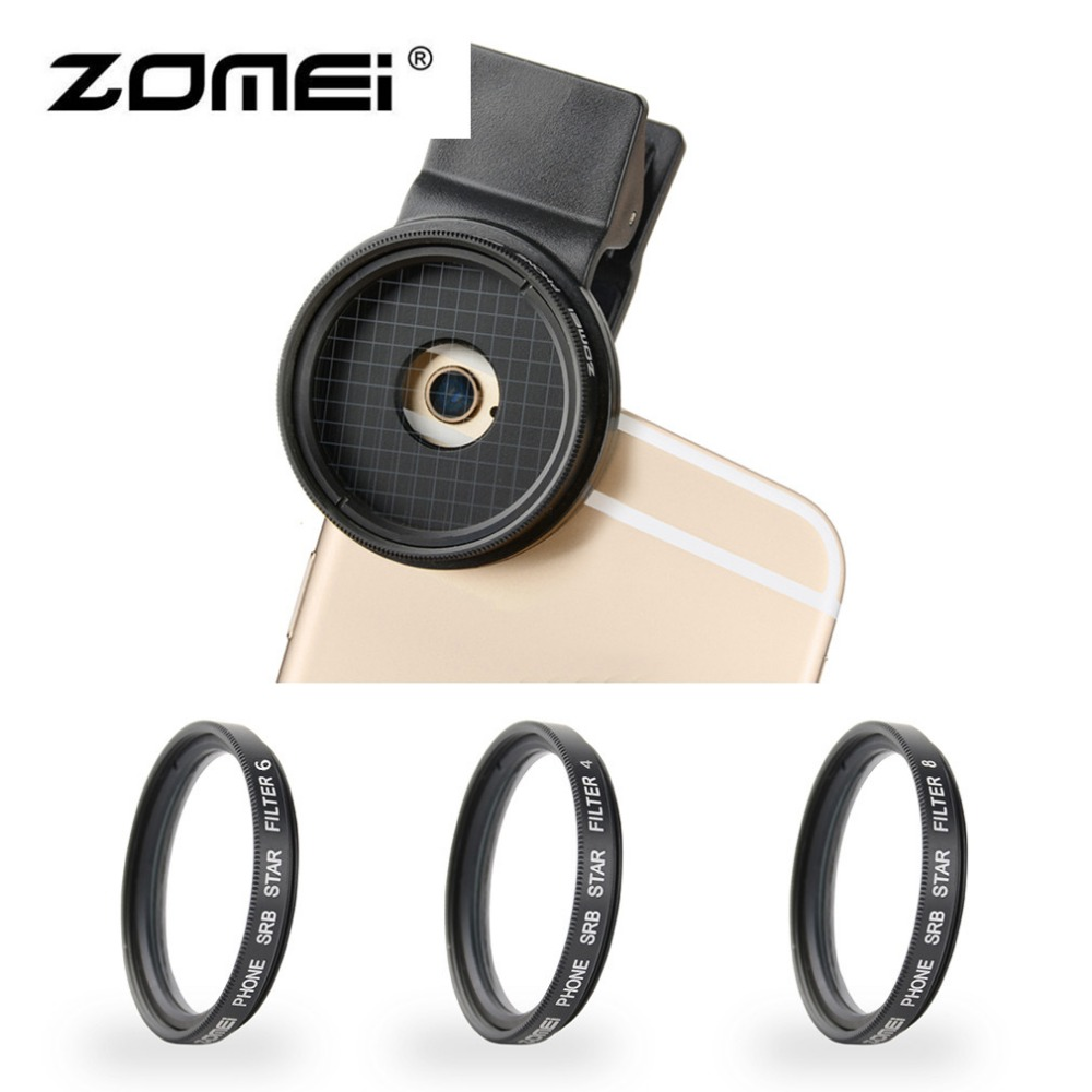 ZOMEI Professional Smart Phone Camera Lens Filters Universal 37MM M3 4 Points + 6 Points + 8 Points Lens Filter Set For iPhone