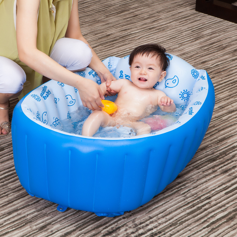 Summer Inflatable Swimming Pool Portable Baby Kids Bath Tub Folding ...