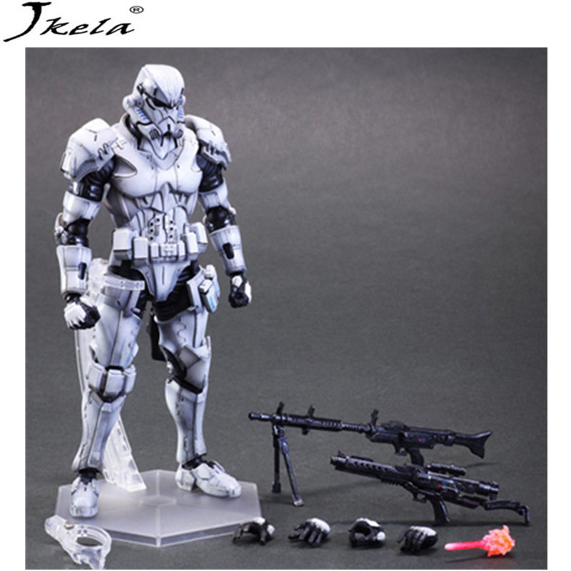 [hot] Star War figure Trooper Phase Phase I II marvelING Model PVC Action Figure Toy Collection Model Gift 26cm LegoINGly play art 26cm star war storm trooper stormtrooper action figure model toys