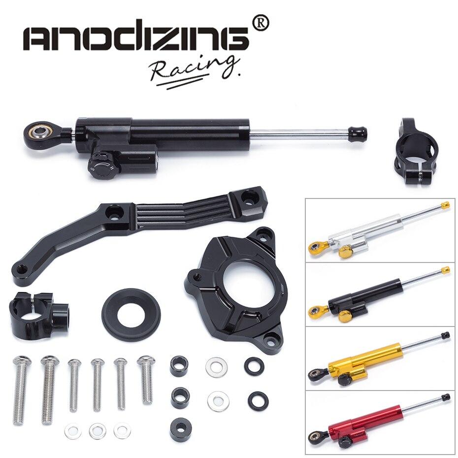 FREE SHIPPING For KAWASAKI Z1000 2010-2013 Motorcycle Aluminium Steering Stabilizer Damper Mounting Bracket Kit