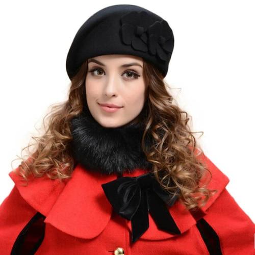 Winter Women Hats Felt...