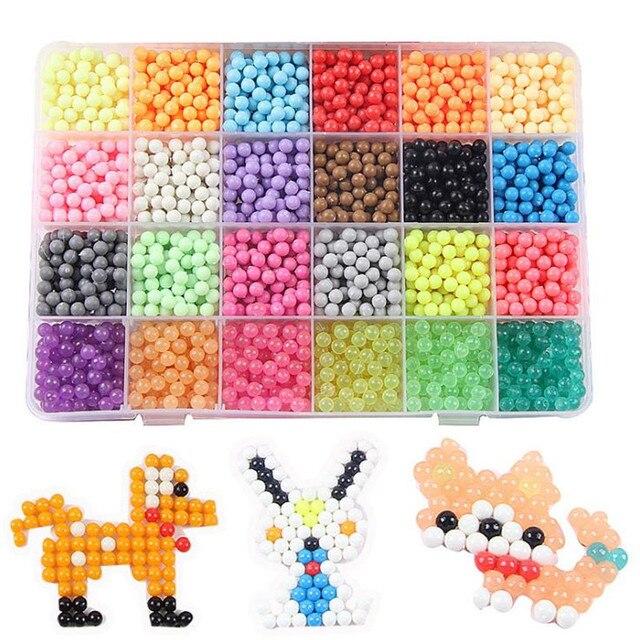 3C certification 24 color 3000pcs children\'s DIY water stick beads ...