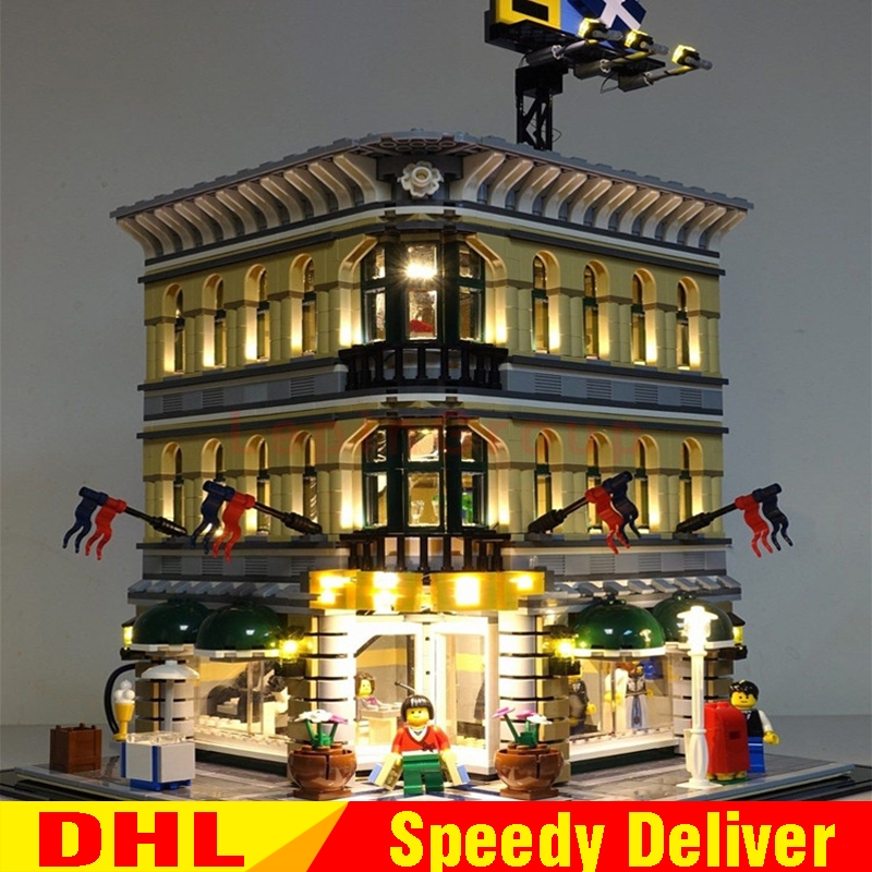 LEPIN 15005 DIY LED light City Grand Emporium Model Building Blocks Kits Brick Educational Toy legoings toys Clone 10211
